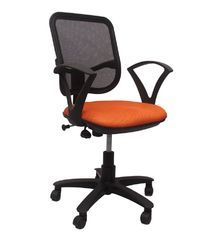 TRENDS Fabric Mesh Back Staff Chair Ergonomically Designed Extra Comfort