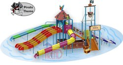 Pirate theme water slide
