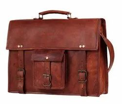 15 Inch Leather Vintage Rustic Crossbody Messenger Courier Satchel Bag Gift Men Women
