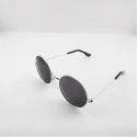 银色黑圆太阳谷歌眼镜