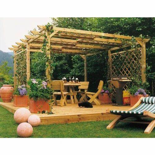 Wooden Pergola Ipe Wood Louver Pergola Wholesaler From New Delhi
