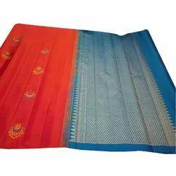 Fancy Uppada Silk Saree, Machine Made, 5.5 m (separate blouse piece)