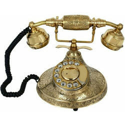 Royal Brass Antique Telephone, For Decoration