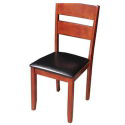 Wood Brown Simple Dining Chair, Set Size: Single, Size: Standard