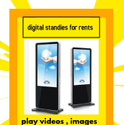 Stainless Steel Rectangle Digital Standee For Rents In Delhi