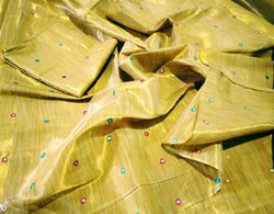 Pure Erode Tissue Sarees With Foil Work, Machine Made