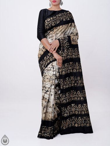a9713ac3b4 Batik Prints Batik Printed Bengal Soft Silk Saree, With Blouse Piece ...