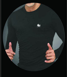 Full Sleeves Plain 4U Men Black T Shirts