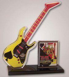 Guitar Shape Acrylic Trophy