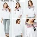 White Ladies Embroidered Top