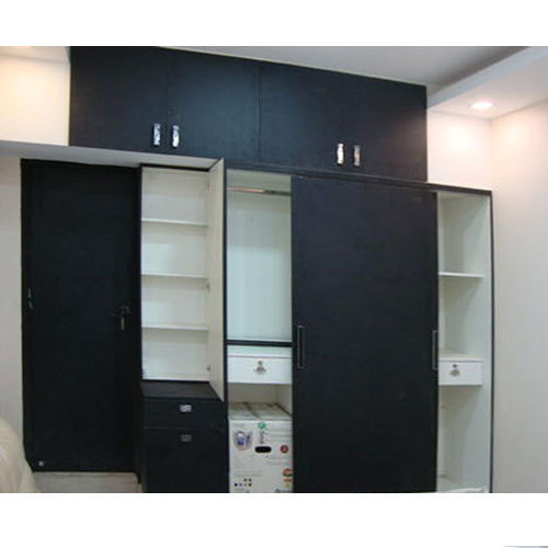 Black Sliding Door Bedroom Wardrobe Rs 100000 Unit Asian Interiors Id 16196951362