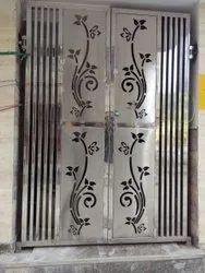 Aluminium Partition Doors Sliding Steel Door, For Home, Exterior
