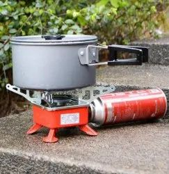 Outdoor Portable Windproof Square-Shaped Gas Burner for Outdoor Camping Hiking Picnic Kitchen Stove