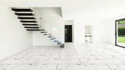 Porcelain White Nil Blue Glossy Tiles, Thickness: 12 - 14 mm