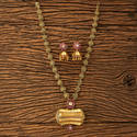 Female Ruby Kundan Mala Necklace With Gold Plating 45262