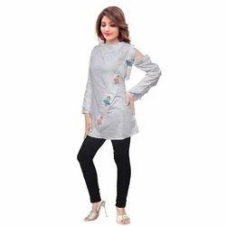 Ladies Cotton Casual Designer Top, Size: XXL