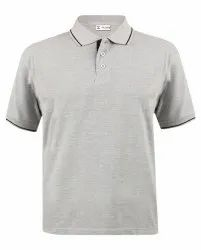 Grey Melange Polo T Shirts