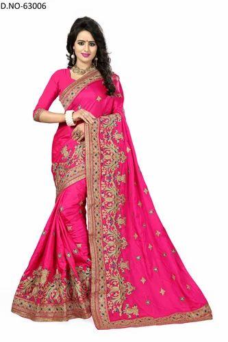 81015bad7f Multicolor Party Wear Beautiful Designer Creap Silk Saree, Rs 1995 ...