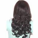 Synthetic Maroon Black Natural Wavy Curly Long Hair Wig