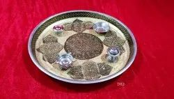 Arrowtouch International Round Pooja Items for Temple