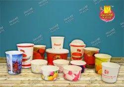 4c Printed avjo plastic Paper Cup, Size: 250ml, Capacity: 250 ml