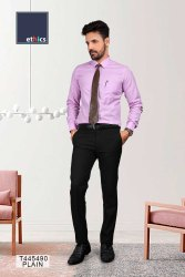 Purple Plain Unstitched Uniform Shirts for Corporate Staff