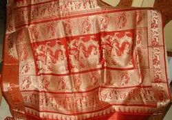 Festive Wear Baluchari Silk Saree, 6 m With Blouse Piece