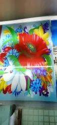 Flowered Glass Sheet