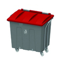 Bin with Closed Flat Covered Lid