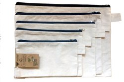 Cotton Zip Pouches
