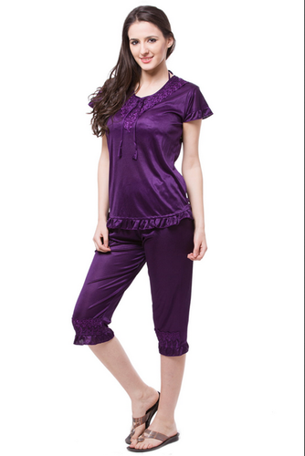 0f5728687d Fasense Exclusive Women Satin Nightwear Sleepwear 6 Pcs Set ...