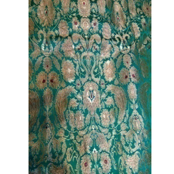 Embroidery Green Kamkhwab Work