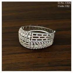 American Diamond Designer Kada with CZ Stones