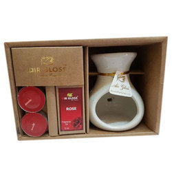 Ceramic Oil Rose Perfumed Burner Set