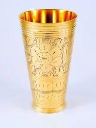 Brass Glass, Shape: Cylindrical, Size: 6.5