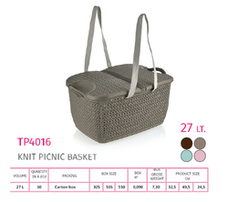 Knit Picnic Basket