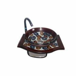 Toilet Wash Glass Basin Bowl