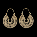 Leaf Design Gold Plated Vintage Style Brass Tribal Earring