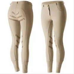 Breeches Or Jodhpurs With Grip Gel Silicone Seat In Beige And Sock Bottom
