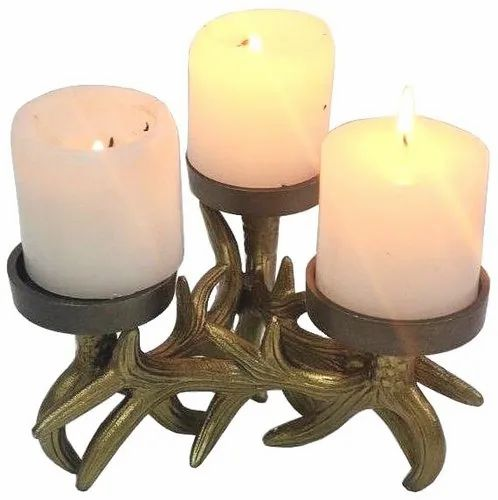 Metal Festival Candle Holder, For Event and Home Decor