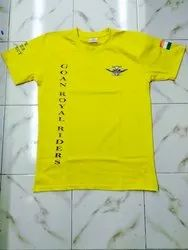 Round Casual Wear Cotton T-Shirts