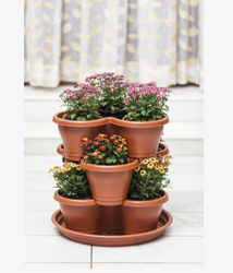 Vipin Plasticware Round Stack Pot for Garden