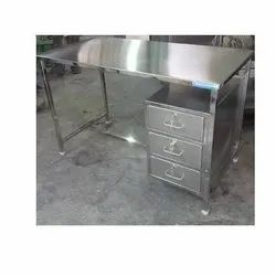 Stainless Steel SS Table With Drawer, 3 Year