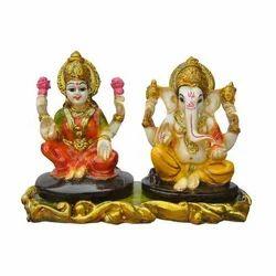 Polystone Resin Laxmi Ganesh Statue