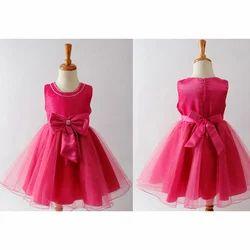 Pink Plain Mini Party Wear Dress
