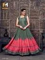 Navratri Silk Handwork Evening Gown