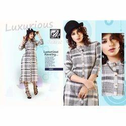 Ladies Cotton Elegant Kurti, Size: M, L, XL & XXXL