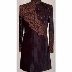Party Wear Stitched Mens Embroidered Sherwani, Size: S-xxl