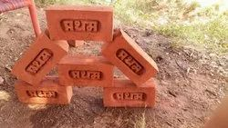 Pratham Clay Red Bricks, Size: 9x4x3
