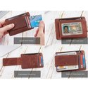 RFID Money Clip Genuine Leather Wallet
